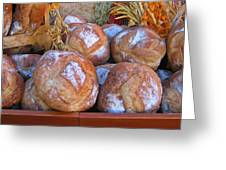 Bread At A French Market Greeting Card
