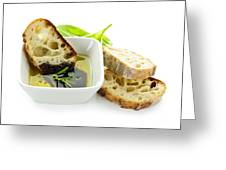 Bread Olive Oil And Vinegar Greeting Card