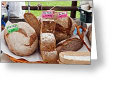 Bread On Local Market Greeting Card
