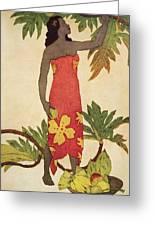 Breadfruit Girl Greeting Card