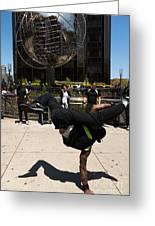 Break Dancer  Columbus Circle Greeting Card