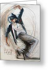 Break Dancer1 Greeting Card