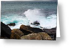 Breakers And Rocks Greeting Card