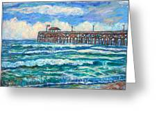 Breakers At Pawleys Island Greeting Card