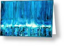 Breakers Off Point Reyes Original Painting Greeting Card