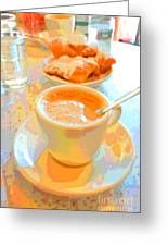 Breakfast At Cafe Du Monde Greeting Card