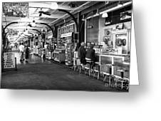 Breakfast At The French Market Mono Greeting Card