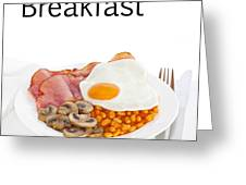 Breakfast Concept Greeting Card