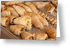Breakfast Croissant Greeting Card
