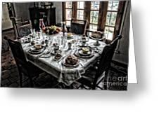 Downton Abbey Breakfast Greeting Card