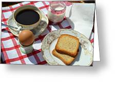 Breakfast On A Table Greeting Card