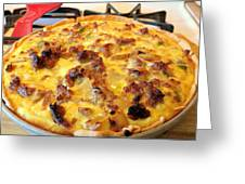 Breakfast Quiche Greeting Card by Kay Novy