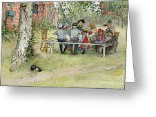Breakfast Under The Big Birch Greeting Card
