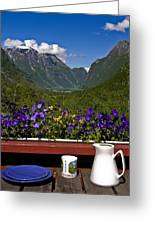 Breakfast View Greeting Card