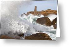 Breaking Of Waves Greeting Card