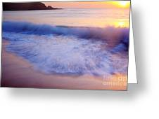 Breaking Wave At Sunrise Greeting Card