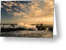 Breaking Waves Iv Greeting Card