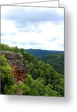 Breaks Interstate Park Virginia Kentucky Rock Valley View Overlook Greeting Card