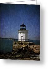 Breakwater 'bug Light House Greeting Card