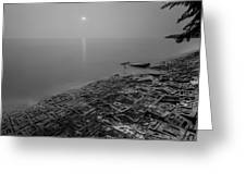 Breakwater Greeting Card by Mario Legaspi