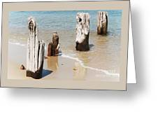 A Unique Breakwater On Martha's Vineyard  Greeting Card