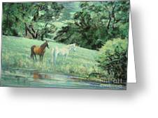 Breathing In Strength Unsaddled Greeting Card
