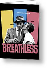 Breathless Movie Poster Greeting Card