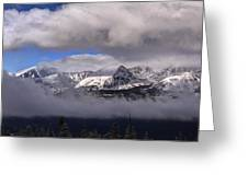 Breckenridge And Clouds  Greeting Card