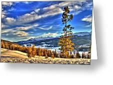 Breckenridge Skies Greeting Card by Scott Mahon
