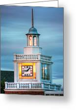 Brecksville Clock Tower Greeting Card by Jenny Ellen Photography