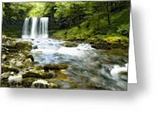 Brecon Waterfall Greeting Card