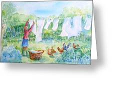 Breezy Day  -great Drying Out Greeting Card
