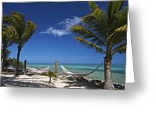 Breezy Island Life Greeting Card by Adam Romanowicz