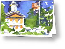 Breezy Morning At The Courthouse Greeting Card
