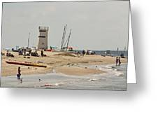 Breezy Point Lighthouse Bayside Greeting Card