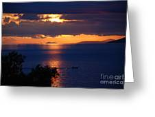 Brela Sunset Croatia Greeting Card