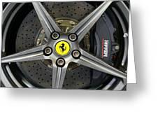 Brembo Carbon Ceramic Brake On A Ferrari F12 Berlinetta Greeting Card