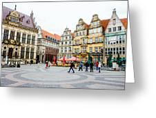 Bremen Main Square Greeting Card