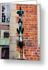 Bremen Musicians Statue Greeting Card