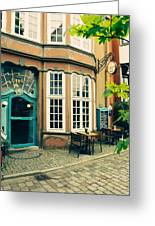 Bremen Schnoor Cafe Greeting Card