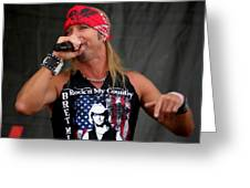 Bret Michaels In Philly Greeting Card