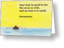 Breton Fisherman's Prayer Greeting Card