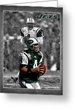 Brett Favre Jets Greeting Card