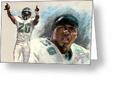 Brian Dawkins Greeting Card by Viola El
