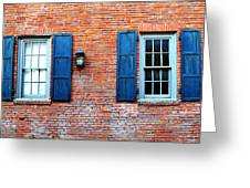 Brick And Shutters Greeting Card