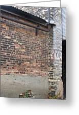 Brick Building Stop Greeting Card