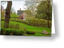 Brick Cottage Greeting Card