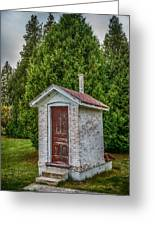 Brick Outhouse Greeting Card