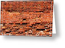 Brick Scarp Walls And Casement Gallery Greeting Card