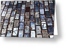 Brick Street Greeting Card by John Rizzuto